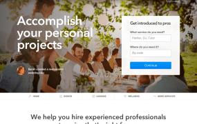 Thumbtack webpage