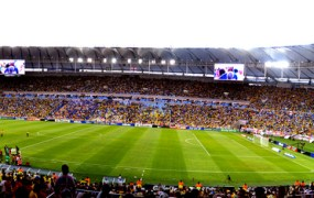 The Maracanã stadium in Rio de Janeiro, Brazil