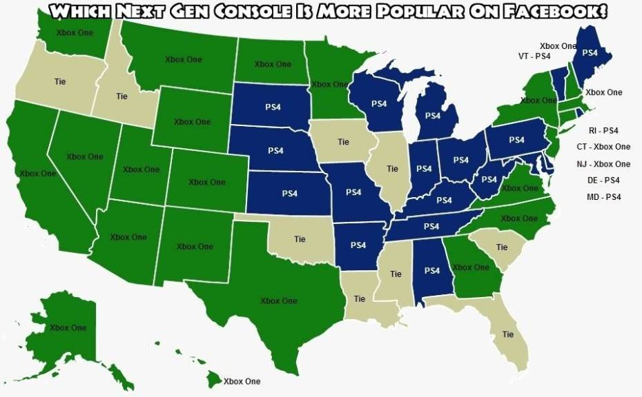 A state-by-state breakdown of console favorites.