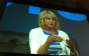Diane Bryant speaks about a new product line for Xeon chips that pair with FPGAs at Gigaom's Structure conference on June 18.