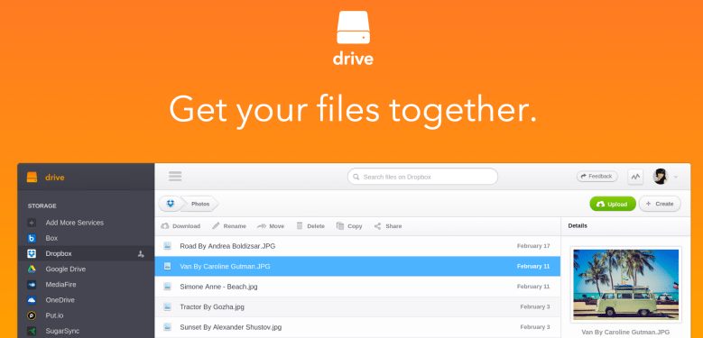 """Get your files together,"" JoliCloud's new Drive service urges."