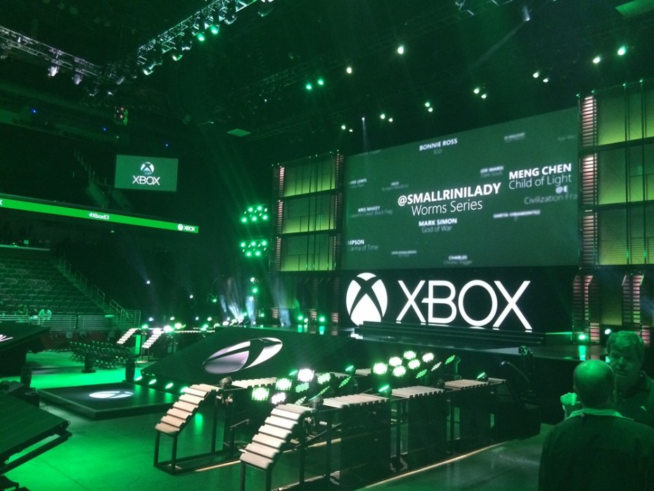 Microsoft's setup for its E3 2014 press briefing.