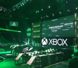Microsoft's setup for its E3 2014 press briefing.