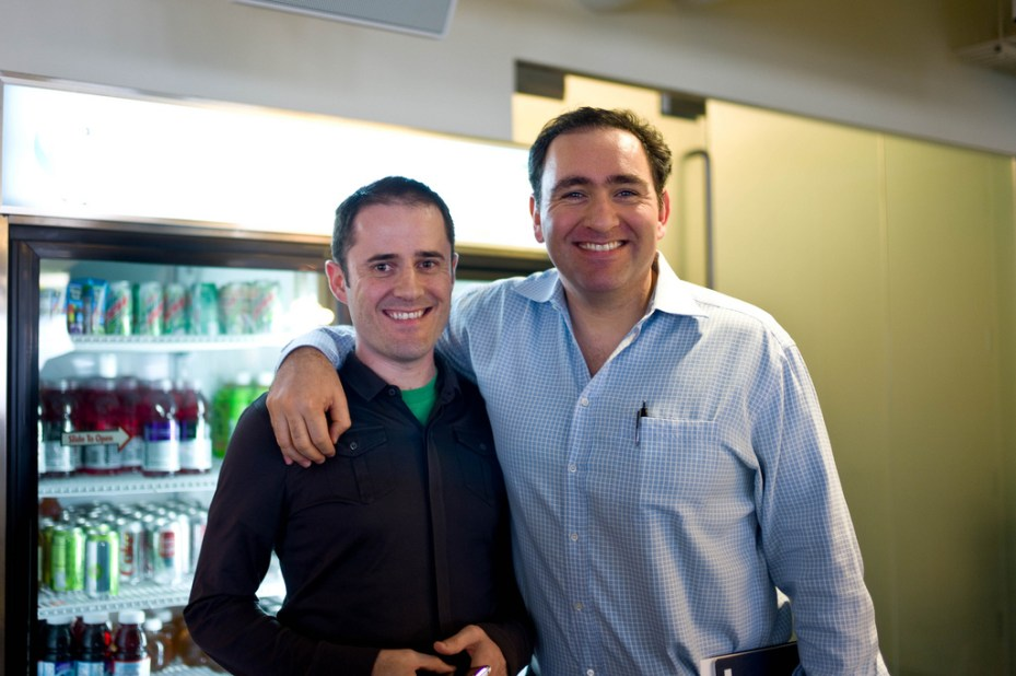 Twitter co-founder Ev Williams (left) and former COO Ali Rowghani