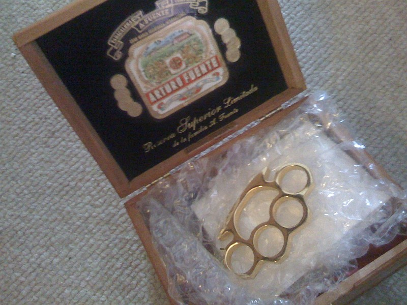 EA shipped these brass knuckles out to journalists.