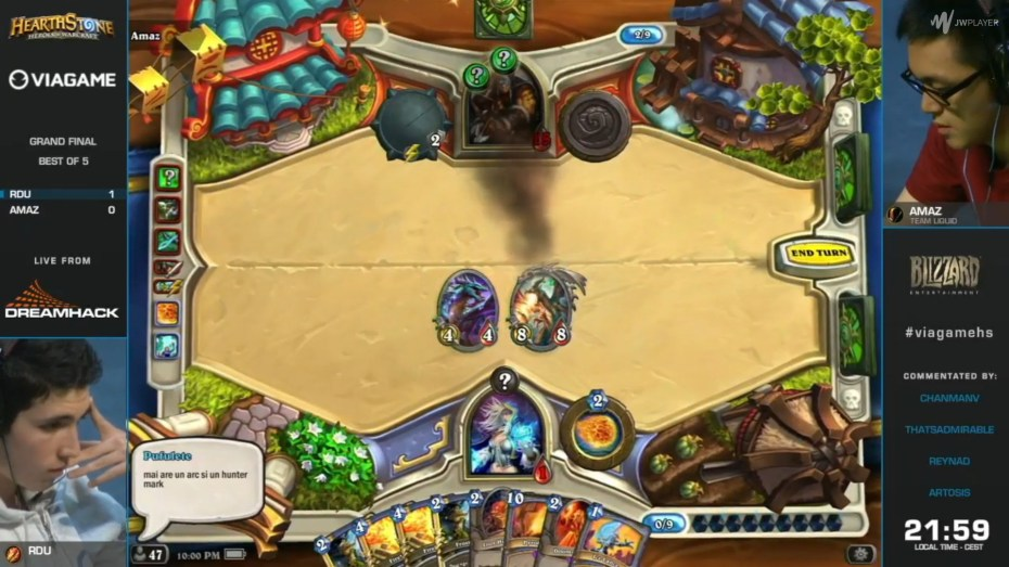 An infamous moment of cheating in a Hearthstone tournament.