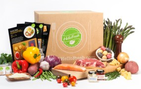 A HelloFresh box.