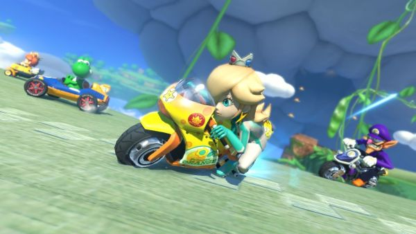 Mario Kart 8 in action for Wii U.