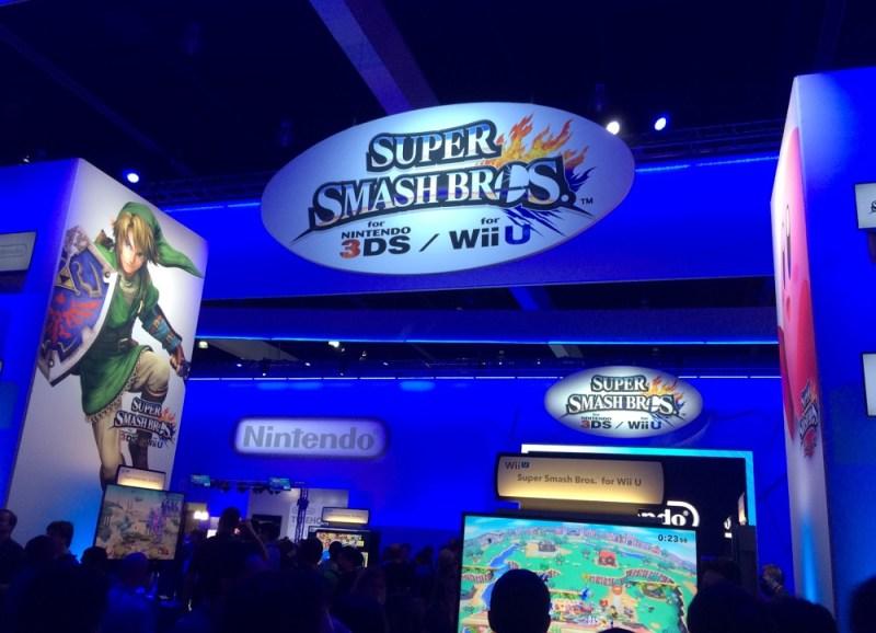 The Nintendo booth at E3 2014.