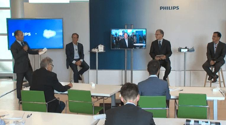 Executives from Royal Philips NV and Salesforce.com announce plans for a new health platform during a webcast early Thursday.