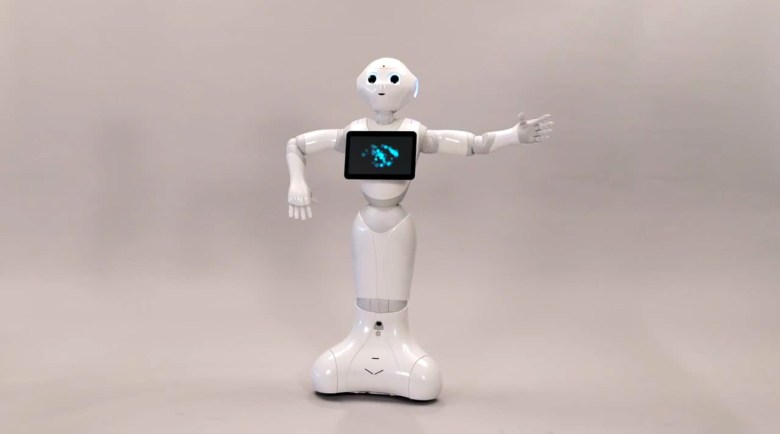 SoftBank's new robot, Pepper.