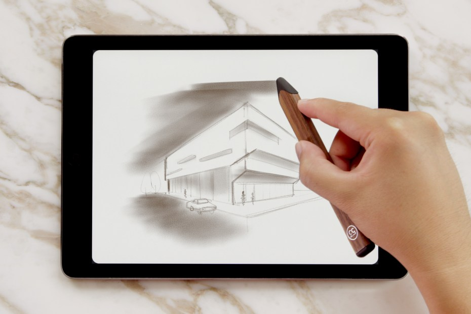 "A new feature for the digital ""Pencil"" -- angling it so you can shade in larger areas."