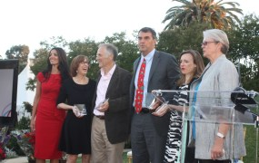 SVForum crowd: Adiba Barney, Tina Seelig, Tim O'Reilly, Tim Draper, Jessica Jackley, and Debra Brackeen.