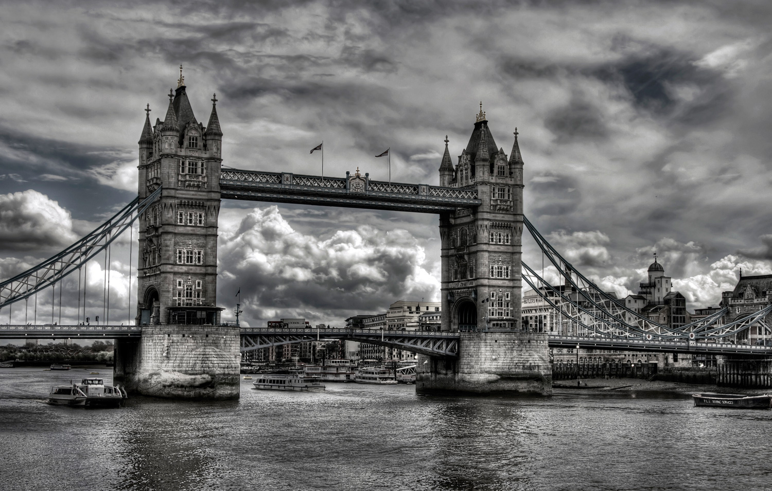 The Tower Bridge of London.