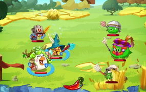 Angry Birds Epic's new twist on the series is helping keep the grumpy fowl on the chart.