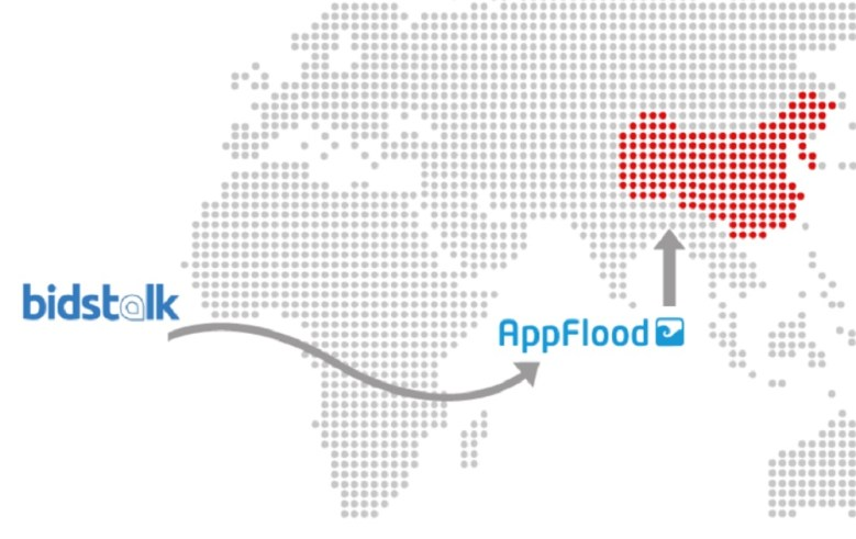 AppFlood teams up with Bidstalk on mobile ads for apps in China.