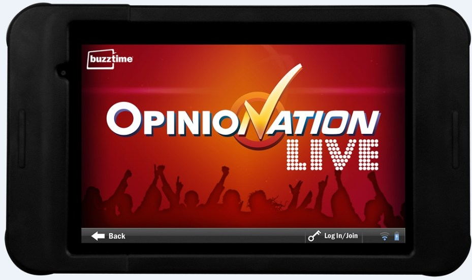 Buzztime's new OpinioNation Live game