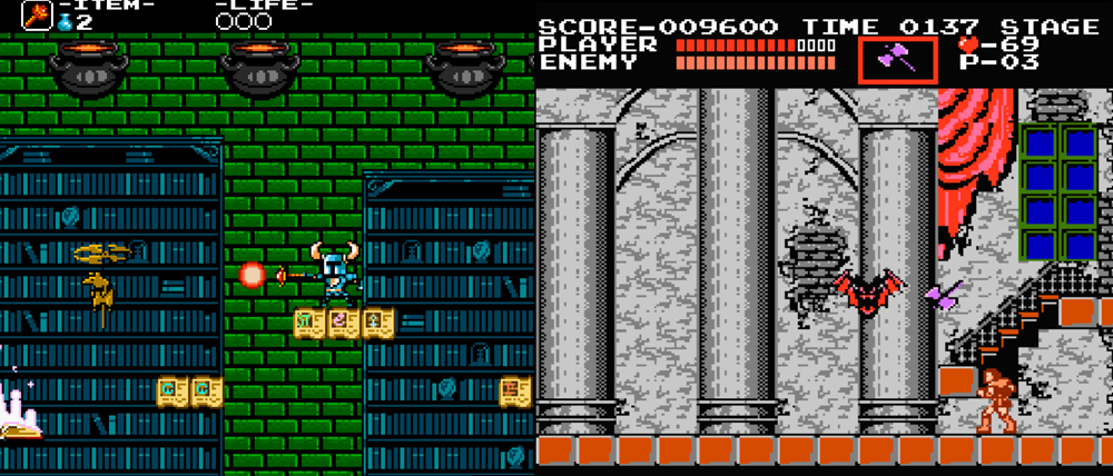 Shovel Knight vs. Castlevania.
