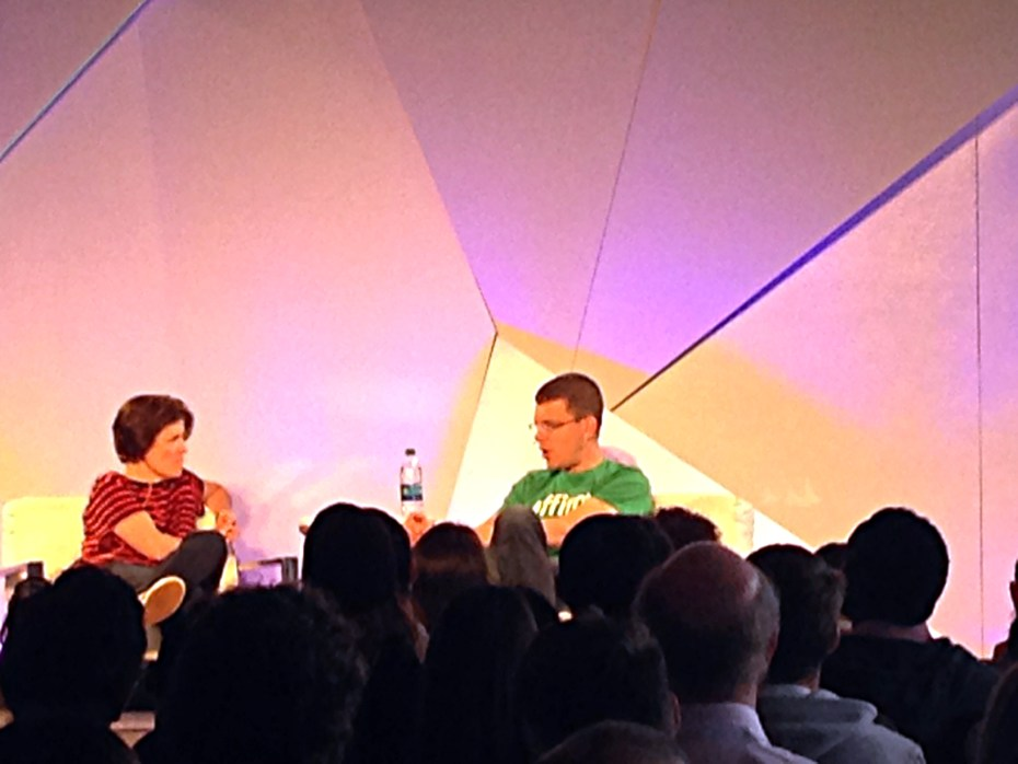 Kara Swisher (left), and Max Levchin (right)