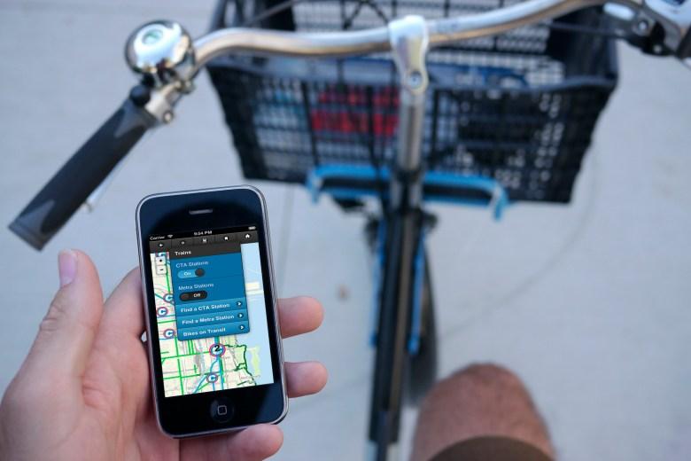 iPhone bike map