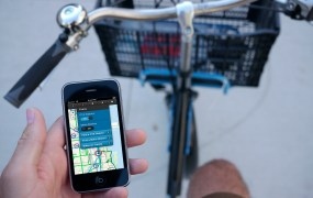 iPhone bike map