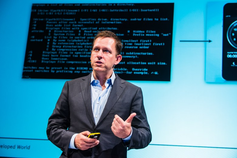 Founders Fund co-founder Peter Thiel.
