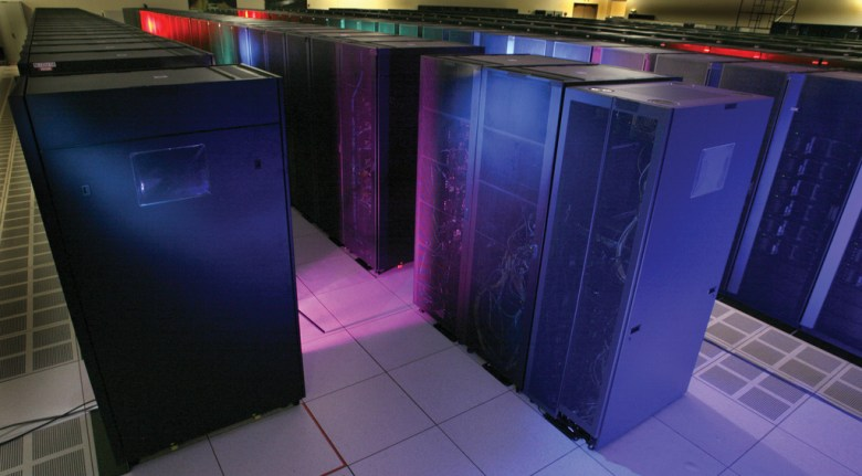 Roadrunner, a hybrid supercomputer built in 2008 at Los Alamos National Laboratory.