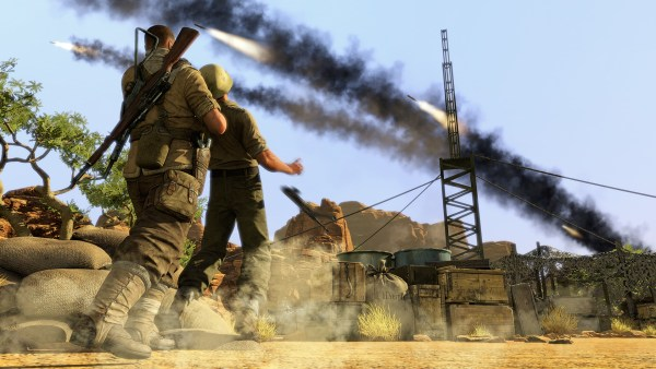 Adding a visual indicator of enemy awareness helped make navigating Sniper Elite III's large maps more palatable.