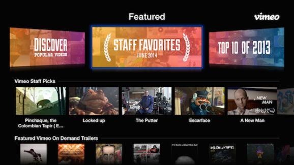 Vimeo AppleTV app