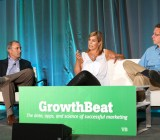 Lisa Archambault, middle, Head of Demand Generation at Zappos, and Eric Bosco, right, chief executive at ChoiceStream, speak at VentureBeat's 2014 GrowthBeat conference in San Francisco on Aug. 5.