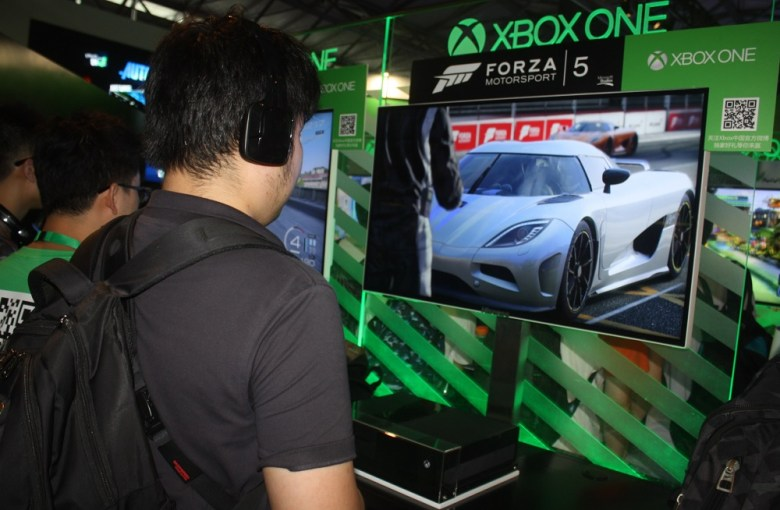 Microsoft's Xbox One at ChinaJoy.