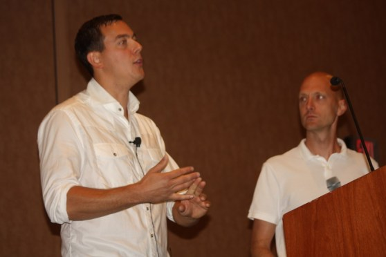Chris Valasek of IOActive and Charlie Miller of Twitter