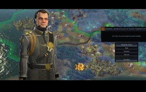 Vadim Kozlov, the leader of the Slavic Federation in  Civilization: Beyond Earth.