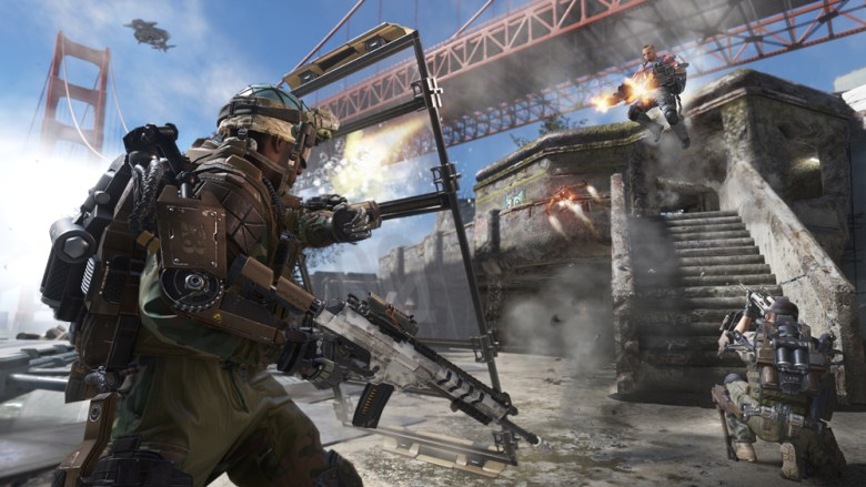 Call of Duty: Advanced Warfare's exoskeletons come fully loaded.