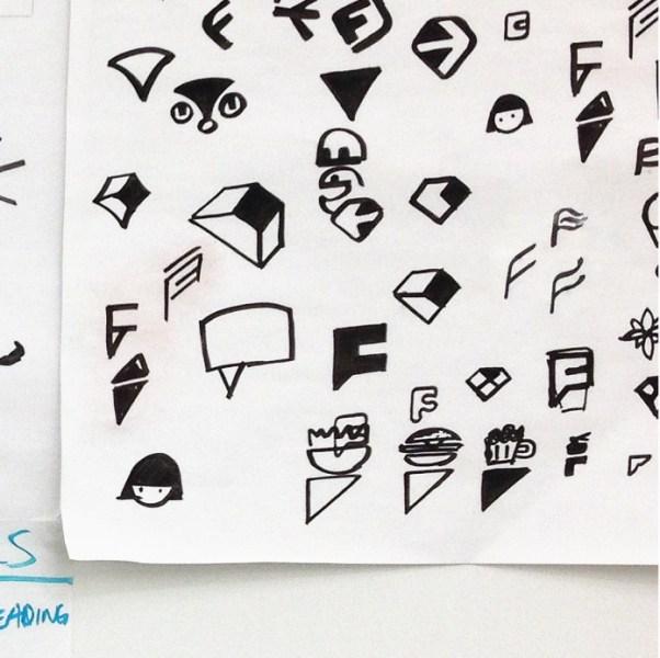Foursquare F logo designs
