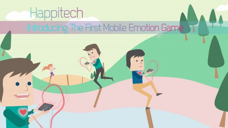 Happitech uses your heart rate as an input for a mobile game.