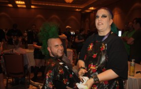Getting a Mohawk haircut is a tradition at Defcon