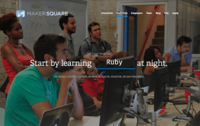 Home page of software bootcamp MakerSquare