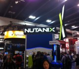 The Nutanix stand at the 2014 VMworld show in San Francisco on Aug. 25.
