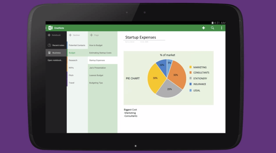 Microsoft OneNote Android