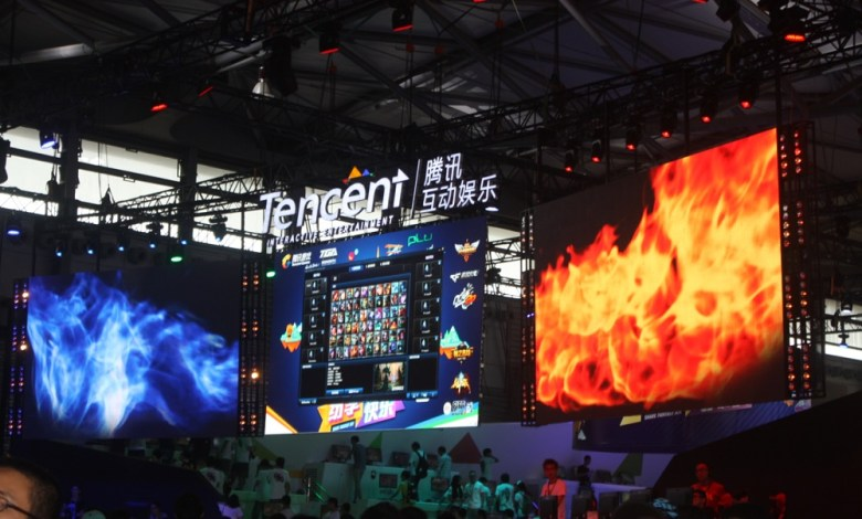 Tencent booth at ChinaJoy Expo 2014