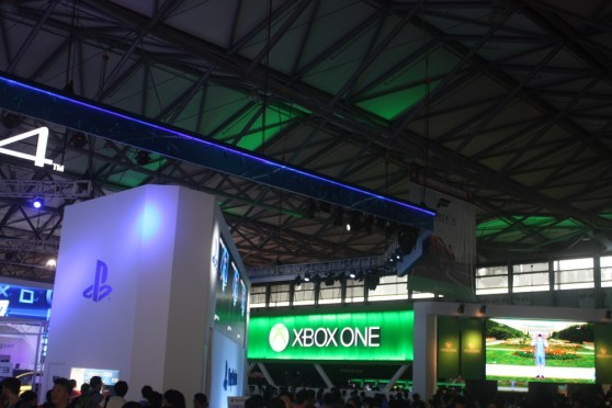 Microsoft and Sony faced off with competing booths at ChinaJoy.
