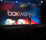 Aaron Levie, Box's chief executive, at the company's BoxWorks conference in San Francisco on Sept. 3.
