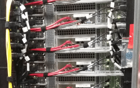Servers at Fastly's point of presence in Frankfurt.