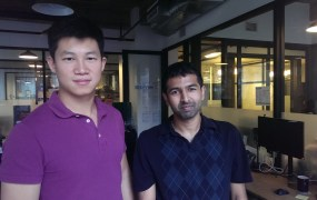 Kinnek co-founders Rui Ma and Karthik Sridharan.
