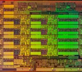 The die for Intel's new Xeon E5-2600 V3 chip.