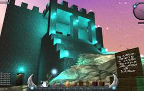 Players can create all kinds of structures, but the world is more detailed than Minecraft.