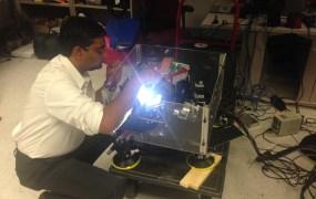 Srini Narasimhan working on the smart headlight