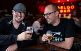 Remedy CEO Matias Myllyrinne and Flaregames CEO Klaas Kersting
