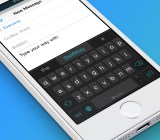 SwiftKey iOS 8 screenshot